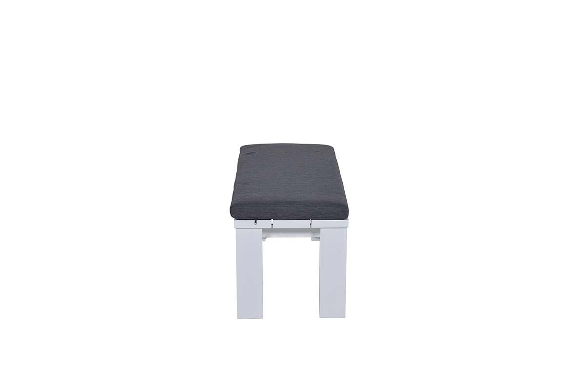 Wit Kunststof Bankje.Cube Bank 115 5x43xh40 Mat Wit Reflex Black Voortman Buitenleven